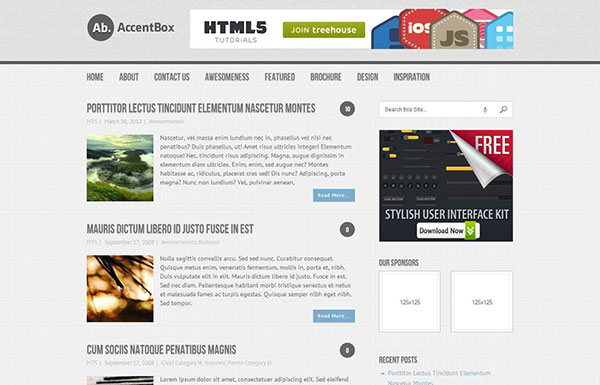 Accentbox Free WordPress Theme