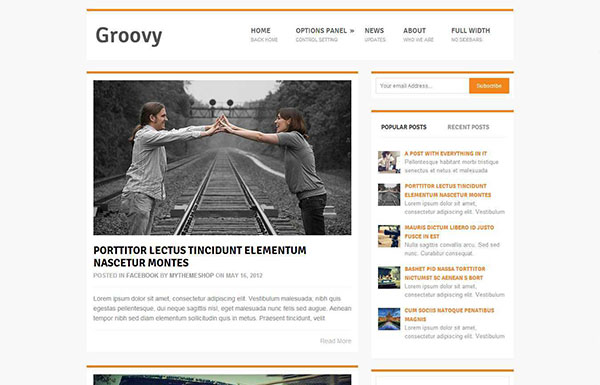 Groovy Free WordPress Theme