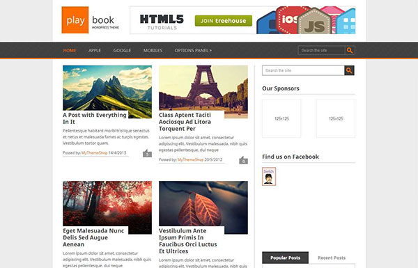 Playbook Free WordPress Theme