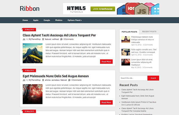 Ribbon Free WordPress Theme